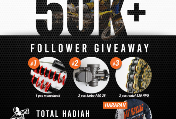 Syarat Mengikuti GIVEAWAY 50K Followers TK Racing!
