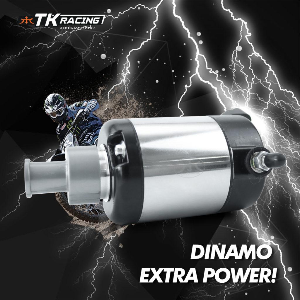 Dinamo Starter TK Racing Bore Up Extra Power buat Kawasaki KLX